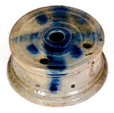 Cobalt-Decorated Stoneware Inkwell, Manhattan or Otherwise NY origin