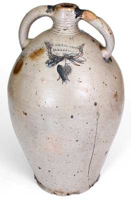 Exceptional D. GOODALE / HARTFORD Monumental Stoneware Jug with Incised Federal Eagle Decoration