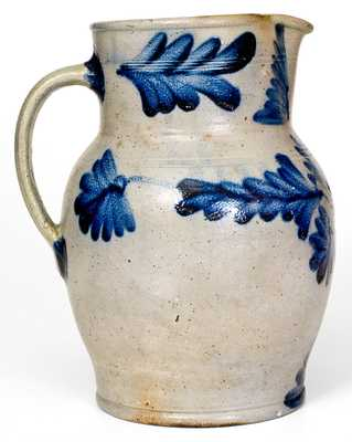 1 Gal. Henry Remmey, Philadelphia, PA Stoneware Pitcher w/ Elaborate Floral Decoration