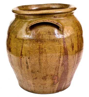 Alkaline-Glazed Stoneware Jar Inscribed