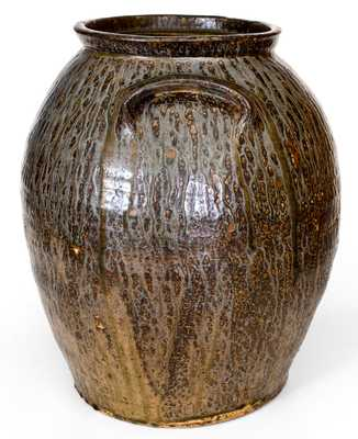 Monumental Crawford County, GA Stoneware Jar with Bold