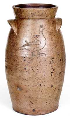 Extremely Rare Incised Bird Churn attrib. John Floyd, Knox County, TN or OH origin, c1840-60