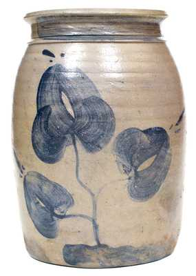 Pruntytown, WV Stoneware Canning Jar w/ Floral Decoration