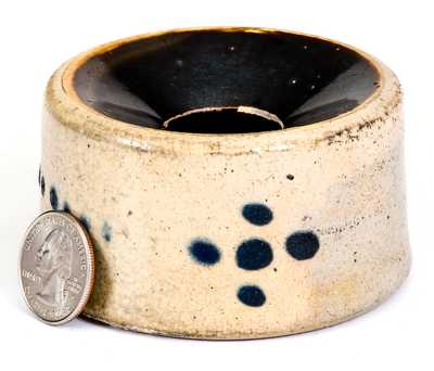 Fine Miniature Stoneware Spittoon, Ohio or northeastern U.S., circa 1880