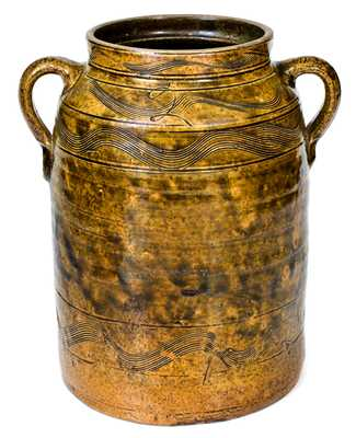 Fine Sand Mountain, Alabama Double-Handled Stoneware Jar
