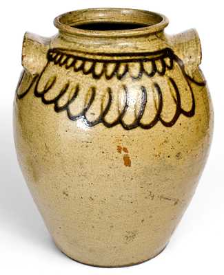 Fine Stoneware Jar attrib. Thomas Chandler at the Trapp & Chandler Pottery, Edgefield District, SC, circa 1848-50