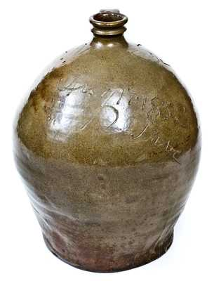 Important Stoneware Jug by Dave (August 17, 1852), Edgefield District, SC