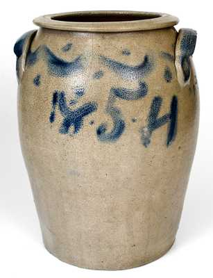 Outstanding T.W. CRAVEN (North Carolina) Stoneware Jar with Cobalt