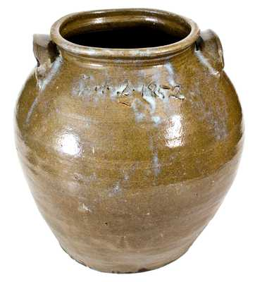 Exceptional Stoneware Jar by Dave (February 2, 1852), with Rare Rutile Decoration, Edgefield District, SC