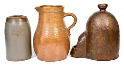Three Pieces of Utilitarian Pottery, incl. Perryopolis and Bloomsburg, PA