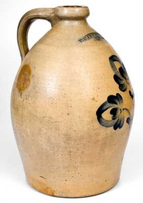 3 Gal. T. HARRINGTON / LYONS Stoneware Jug with Floral Decoration