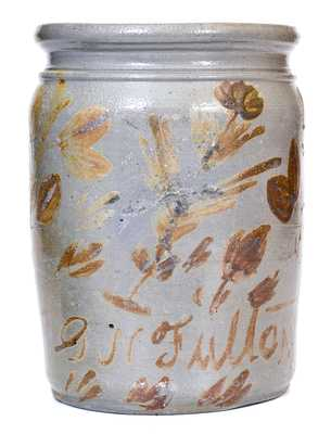 G.N. Fulton (Alleghany County, VA) Straight-Sided Stoneware Jar