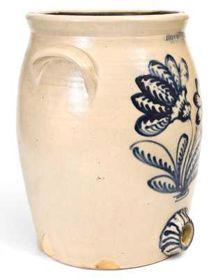 Exceptional JOHN BURGER / ROCHESTER Stoneware Water Cooler w/ Elaborate Slip-Trailed Decoration