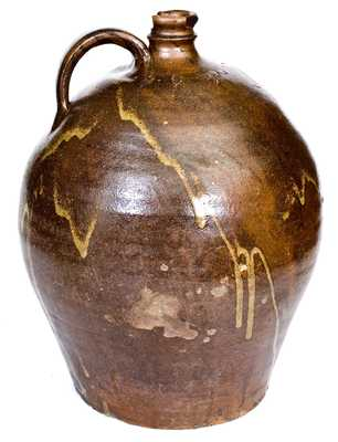 Fine Four-Gallon Stoneware Jug Incised