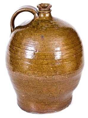 Two-Gallon Stoneware Jug Incised