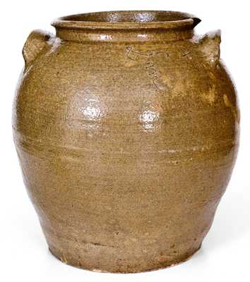 Five-Gallon Stoneware Jar, Incised