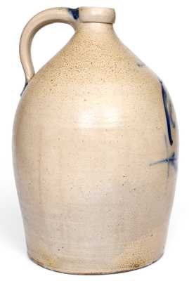 Fine Three-Gallon COWDEN & WILCOX / HARRISBURG, PA Stoneware Man-in-the-Moon Jug