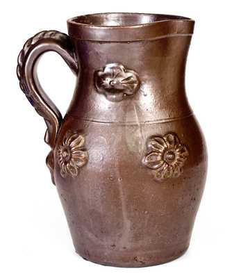 Ohio Stoneware Pitcher with Applied Decoration