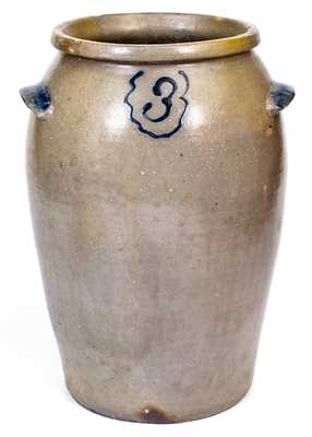 Very Rare Hugh R. Marshall Stoneware Jar, Fredericksburg or Rockbridge County, VA, c1830