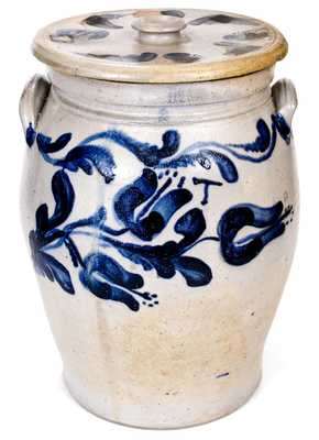 Important Bell Family Stoneware Jar Incised on Underside,