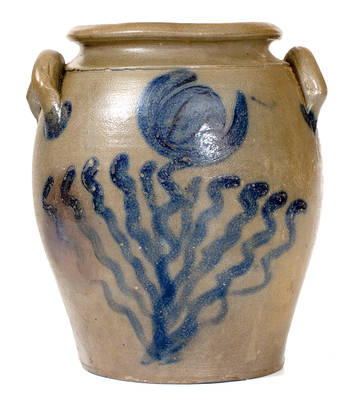 Exceptional attrib. J.P. Schermerhorn, Richmond, VA Area Stoneware Jar