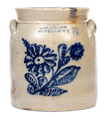 Two-Gallon C.W. BRAUN / BUFFALO N.Y. Stoneware Jar