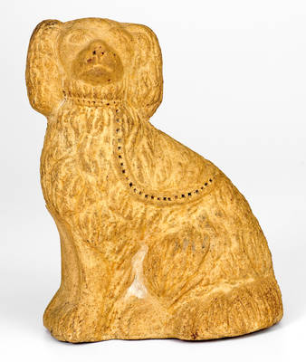 Sewer Tile Spaniel Doorstop, probably Midwestern origin, late 19th century