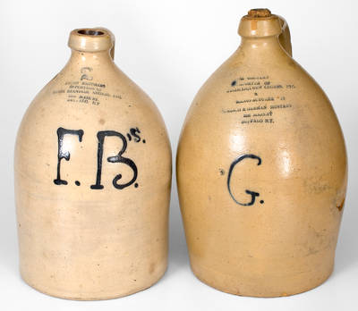 Two Buffalo, New York Stoneware Advertising Jugs