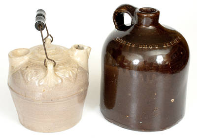 Lot of Two: WEEKS / AKRON, OHIO Stoneware Jugs