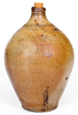 1 Gal. CHARLESTOWN Stoneware Jug with Iron-Oxide Dip