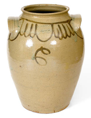 Large Chandler / Maker (Thomas Chandler, Edgefield District, SC) Stoneware Jar