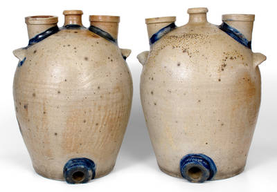Extremely Rare Pair of Chemical Stoneware Coolers, Baltimore, MD, circa 1840