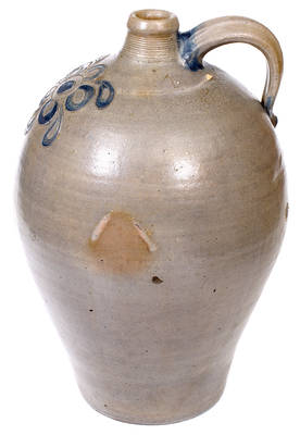 Exceedingly Rare and Important Incised Southern Stoneware Jug, Virginia or Tennessee