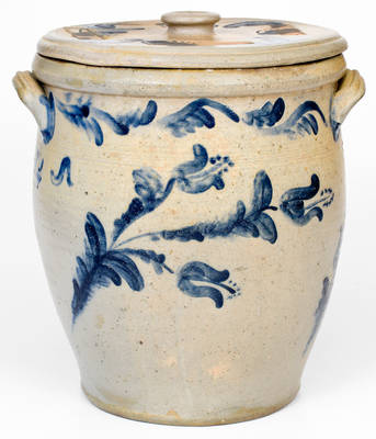 JOHN BELL / WAYNESBORO Stoneware Jar Made by Bell's son, Victor Conrad Bell, for his Wife, Annie