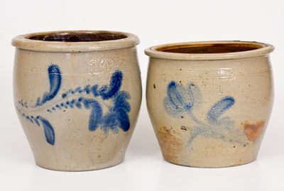 Lot of Two: D. P. SHENFELDER / READING, PA Stoneware Jars (one marked, one attributed)