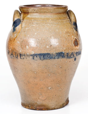 Fine One-Gallon PAUL : CUSHMANS Stoneware Jar