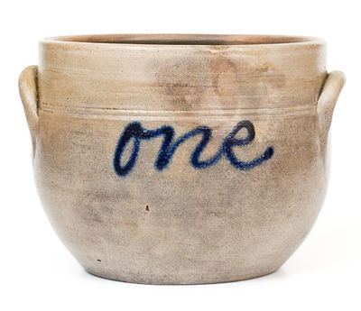 New Jersey Stoneware Jar Inscribed