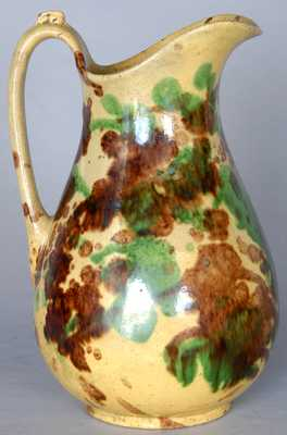 J. Eberly, Strasburg, VA Shenandoah Valley Redware Washbowl Pitcher