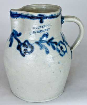 BALTIMORE / H. REMMEY Stoneware Pitcher