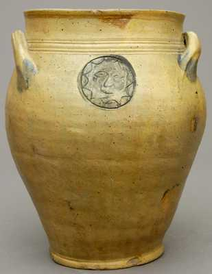 Early NJ Sun Face Jar, attrib. Xerxes Price, South Amboy