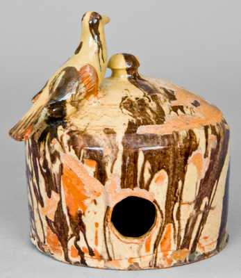 Anthony W. Bacher / 1882 Redware Birdhouse, Shenandoah Valley