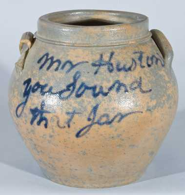 Rockingham County, VA Stoneware Jar, attrib. J.D. Heatwole