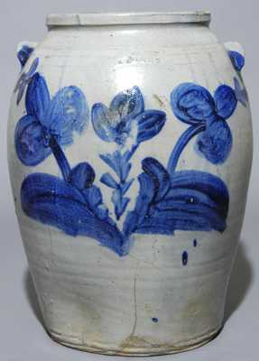 Elaborately-Decorated R. BUTT / W. City. D C Stoneware Crock