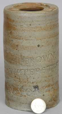 Early Manhattan, NY Stoneware Canning Jar, Thomas Commeraw