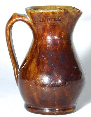 JOHN BELL Redware Pottery Cream Pitcher