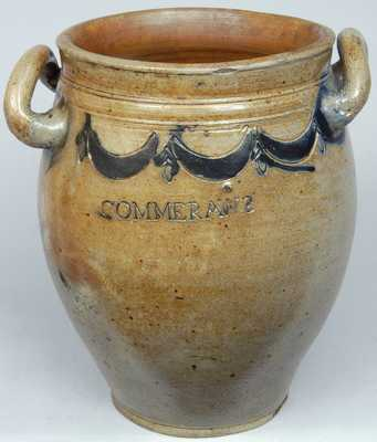 COMMERAWS STONEWARE Jar, Thomas Commeraw, New York City