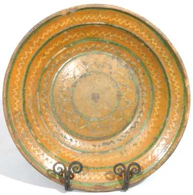 Shenandoah Valley Redware Bowl, attributed to Henry Adam, Hagerstown, MD