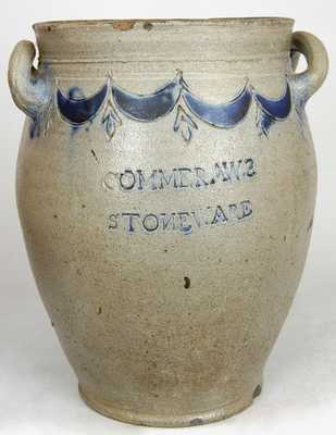 COMMERAWS / STONEWARE, CORLEARS / HOOK Manhattan, NY Stoneware Jar by Thomas Commeraw