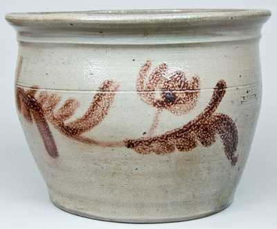 H. GLAZIER / HUNTINGDON, PA Stoneware Jar w/ Manganese Decoration