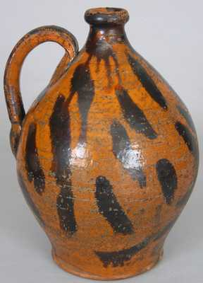 Great Road Redware Pottery Jug, probably Sullivan County, TN